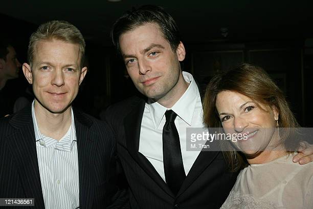 Jon Feltheimer Justin Kirk and Sandra Stern during Showtime and Lionsgate PreGolden Globe Celebration at The Sunset Tower Hotel in West Hollywood...