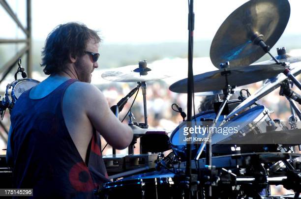 Jon Fishman of Phish during Phish Coventry Festival 2004 Day 1 at Coventry in Newport Vermont United States