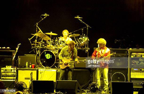Jon Fishman, Trey Anastasio and Mike Gordon of Phish
