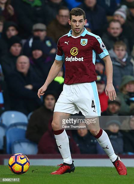 Jon Flanagan of Burnley during the Premier League match between Burnley and Middlesbrough at Turf Moor on December 26 2016 in Burnley England