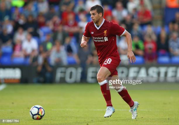 Jon Flanagan of Liverpool during a preseason friendly match between Tranmere Rovers and Liverpool at Prenton Park on July 12 2017 in Birkenhead...