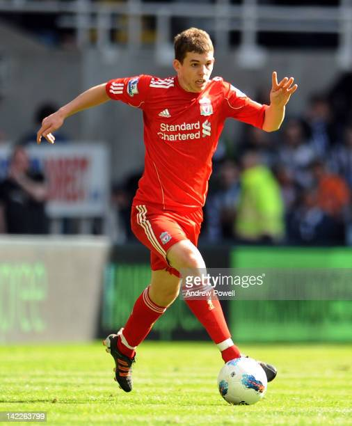 Jon Flanagan of Liverpool during the Barclays Premier League match between Newcastle United and Liverpool at Sports Direct Arena on April 1 2012 in...