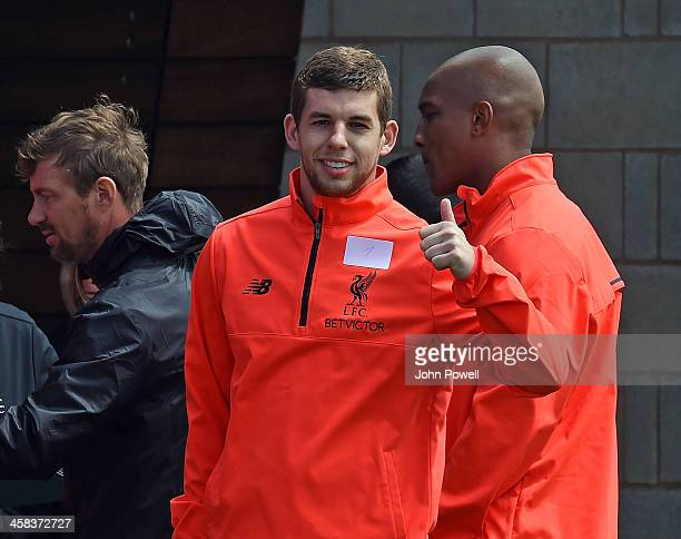 Jon Flanagan of Liverpool during the first day back at training at Melwood Training Ground on July 2 2016 in Liverpool United Kingdom