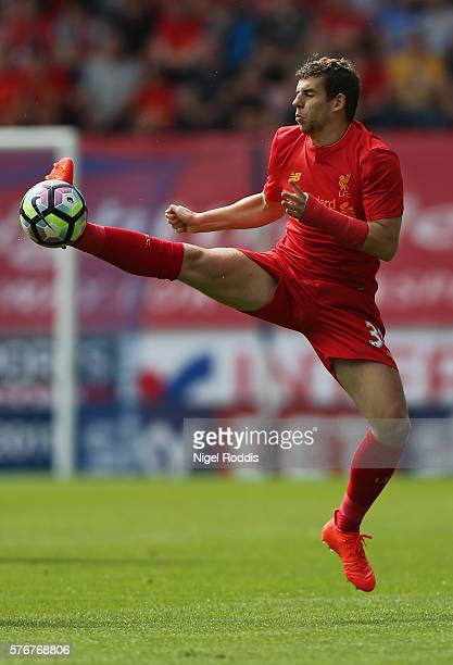 Jon Flanagan of Liverpool during the PreSeason Friendly match between Wigan Athletic and Liverpool at JJB Stadium on July 17 2016 in Wigan England