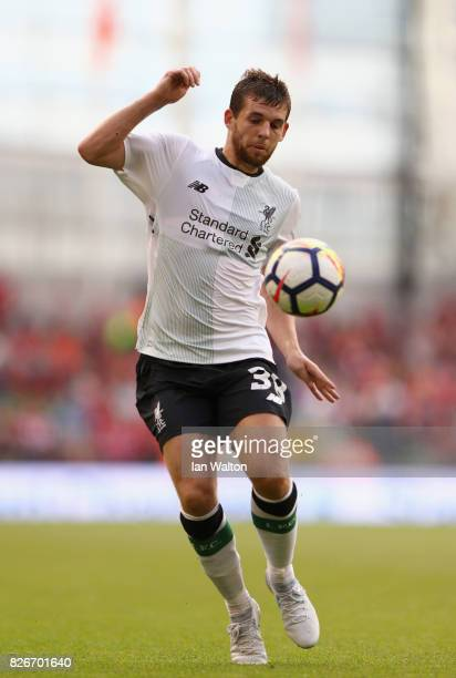 Jon Flanagan of Liverpool in action during the Pre Season Friendly match between Liverpool and Athletic Club at Aviva Stadium on August 5 2017 in...
