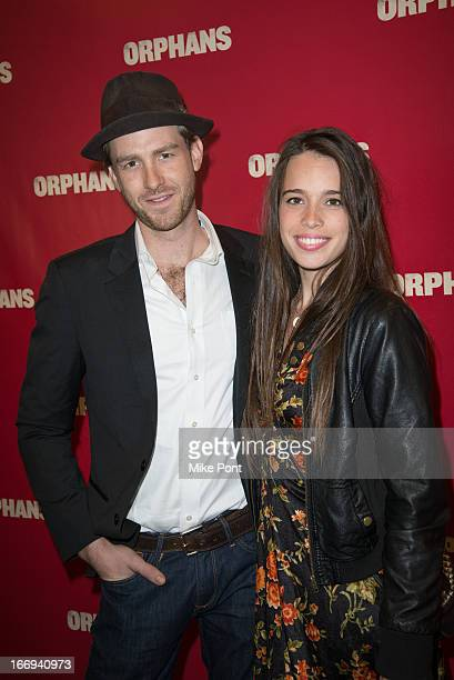 Jon Foster and Chelsea Tyler attend the Orphans Broadway opening night at the Gerald Schoenfeld Theatre on April 18 2013 in New York City