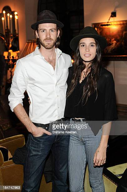 Jon Foster and Chelsea Tyler attend Tommy Hilfiger Celebrates George Esquivel Capsule Footwear Collection in Los Angeles Dinner on October 15 2013 in...