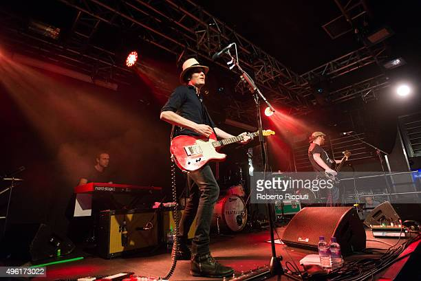 Jon Fratelli and Barry Fratelli of The Fratellis perform on stage at The Liquid Room on November 7 2015 in Edinburgh Scotland