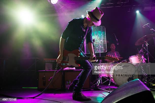 Jon Fratelli and Mince Fratelli of The Fratellis perform on stage at The Liquid Room on November 7 2015 in Edinburgh Scotland