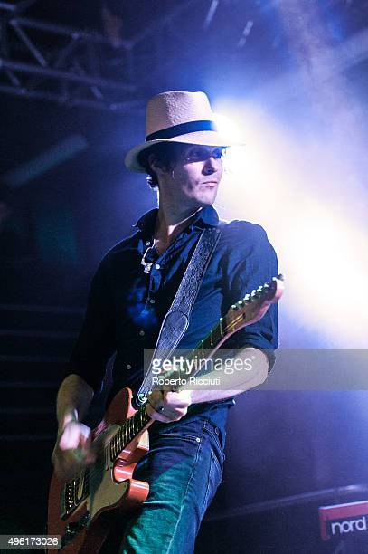 Jon Fratelli of The Fratellis performs on stage at The Liquid Room on November 7 2015 in Edinburgh Scotland