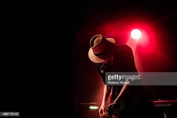 Jon Fratelli of The Fratellis performs on stage at The Liquid Room on November 7 2015 in Edinburgh Scotland