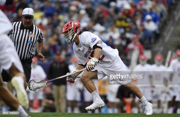 Jon Garino of the Maryland Terrapins during the Division I Men's Lacrosse Championship held at Gillette Stadium on May 29 2017 in Foxboro...