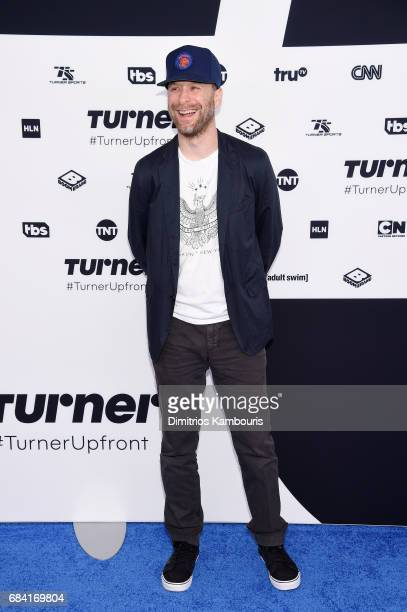 Jon Glaser attends the Turner Upfront 2017 arrivals on the red carpet at The Theater at Madison Square Garden on May 17 2017 in New York City...
