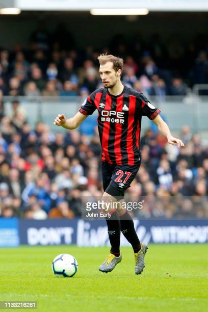 Jon Gorenc Stankovic of Huddersfield Town during the Premier League match between Brighton Hove Albion and Huddersfield Town at American Express...