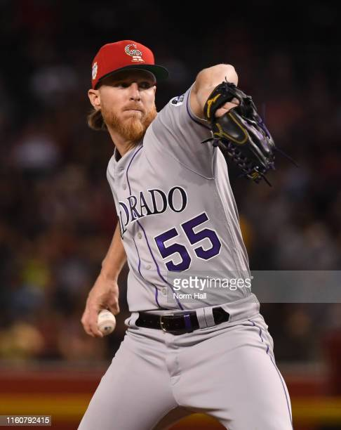 Jon Gray of the Colorado Rockies delivers a pitch against the Arizona Diamondbacks at Chase Field on July 06, 2019 in Phoenix, Arizona.