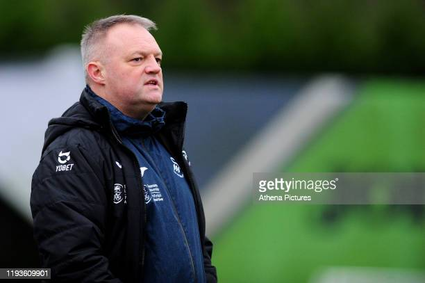 Jon Grey head coach of Swansea City u23s during the Premier League 2 Division Two match between Swansea City u23s and Middlesbrough u23s at Swansea...