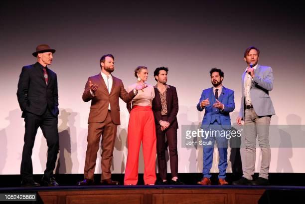 Jon Gries Daniel Stessen Megan Ferguson Nicholas Rutherford Ahmed Bharoocha and Jimmi Simpson attends Adult Swim's DREAM CORP LLC Season 2 Premiere...