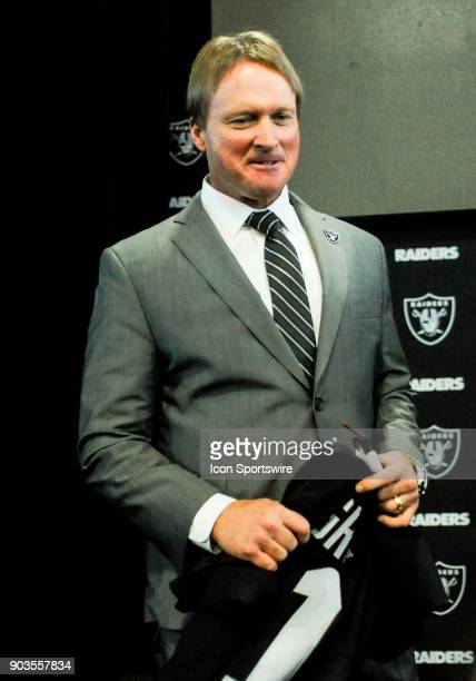Jon Gruden after the Jon Gruden Press Conference on January 9 2017 at Raiders Headquarters in Alameda CA