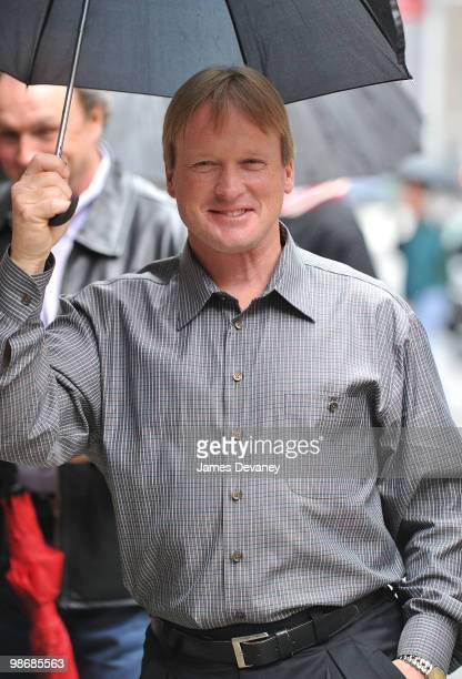 Jon Gruden visits 'Late Show With David Letterman' at the Ed Sullivan Theater on April 26 2010 in New York City