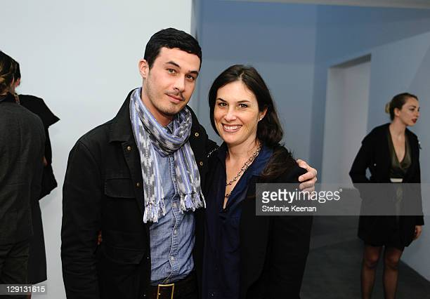 Jon Guidi and Jennifer Guidi attend Florian MaierAichen At Blume Poe Private Preview And Dinner on April 8 2011 in Los Angeles California
