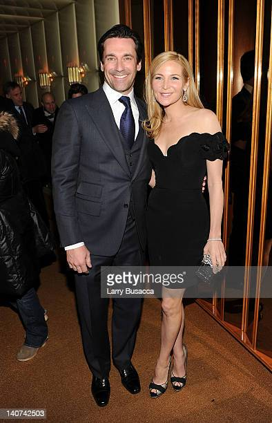 Jon Hamm and Jennifer Westfeldt attend the after party for the Cinema Society People StyleWatch with Grey Goose screening of Friends With Kids at the...