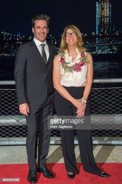 Jon Hamm and Nancy Webster attend the 2017 Brooklyn Bridge Park Conservancy Brooklyn Black Tie Ball at Pier 2 at Brooklyn Bridge Park on October 5...