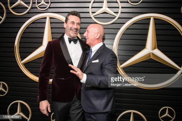 Jon Hamm and Nicholas Speeks arrive at the 2020 MercedesBenz Annual Academy Viewing Party at Four Seasons Los Angeles at Beverly Hills on February 09...