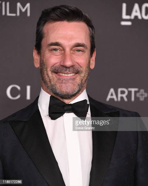 Jon Hamm arrives at the LACMA Art + Film Gala Presented By Gucci on November 02, 2019 in Los Angeles, California.