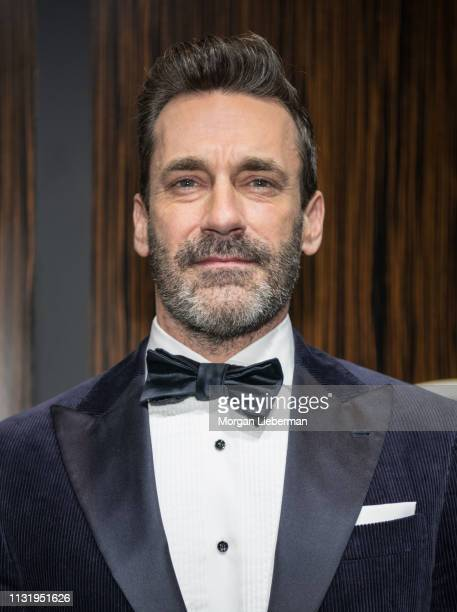 Jon Hamm arrives at the Mercedes-Benz USA's Oscars Viewing Party at Four Seasons Hotel Los Angeles at Beverly Hills on February 24, 2019 in Los...