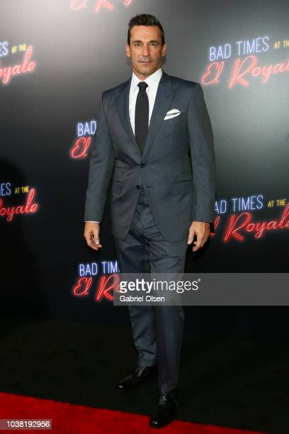 """Jon Hamm arrives to the premiere of 20th Century FOX's """"Bad Times At The El Royale"""" at TCL Chinese Theatre on September 22, 2018 in Hollywood,..."""