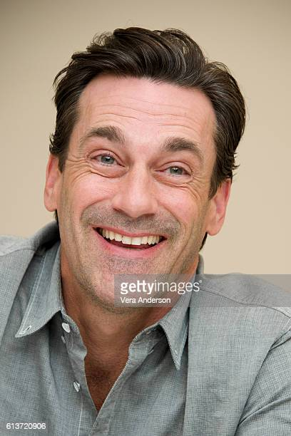Jon Hamm at the 'Keeping Up with the Joneses' Press Conference at the Fairmont Miramar Hotel on October 8 2016 in Santa Monica California