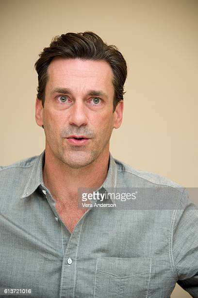 """Jon Hamm at the """"Keeping Up with the Joneses"""" Press Conference at the Fairmont Miramar Hotel on October 8, 2016 in Santa Monica, California."""