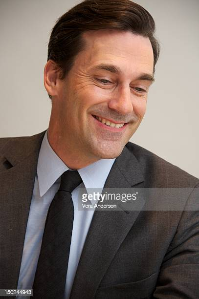 """Jon Hamm at the """"Mad Men"""" Press Conference at the Four Seasons Hotel on August 10, 2012 in Beverly Hills, California."""