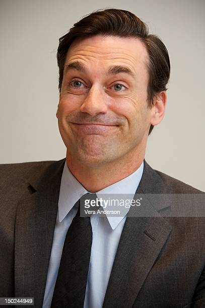 Jon Hamm at the 'Mad Men' Press Conference at the Four Seasons Hotel on August 10 2012 in Beverly Hills California