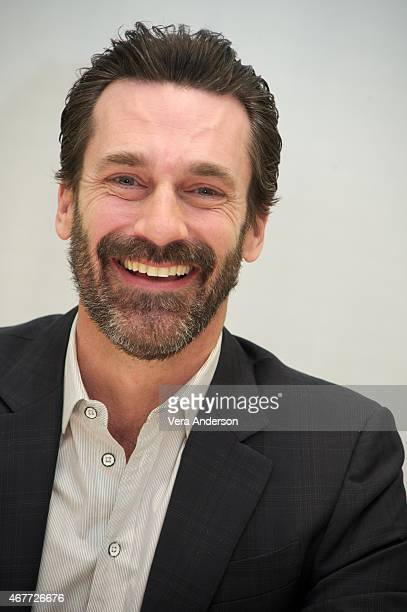 Jon Hamm at the 'Mad Men' Press Conference at the Four Seasons Hotel on March 25 2015 in Beverly Hills California