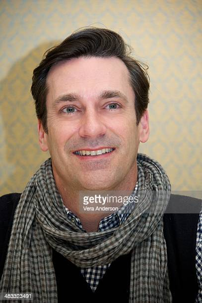 """Jon Hamm at the """"Mad Men"""" Press Conference at the Four Seasons Hotel on April 4, 2014 in Beverly Hills, California."""