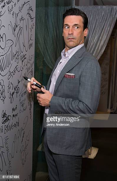 """Jon Hamm attends AOL Build """"Keeping Up With The Joneses"""" to discuss his new movie at AOL HQ on October 12, 2016 in New York City."""