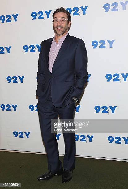 "Jon Hamm attends Aziz Anasari: ""Master Of None"" Screening And Conversation With Jon Hamm at 92nd Street Y on November 2, 2015 in New York City."