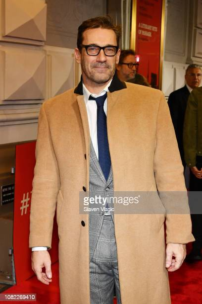Jon Hamm attends opening night of To Kill A Mocking Bird at the Shubert Theatre on December 13 2018 in New York City