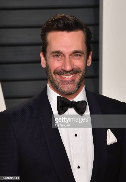 Jon Hamm attends the 2017 Vanity Fair Oscar Party Hosted by Graydon Carter at the Wallis Annenberg Center for the Performing Arts on February 26 2017...