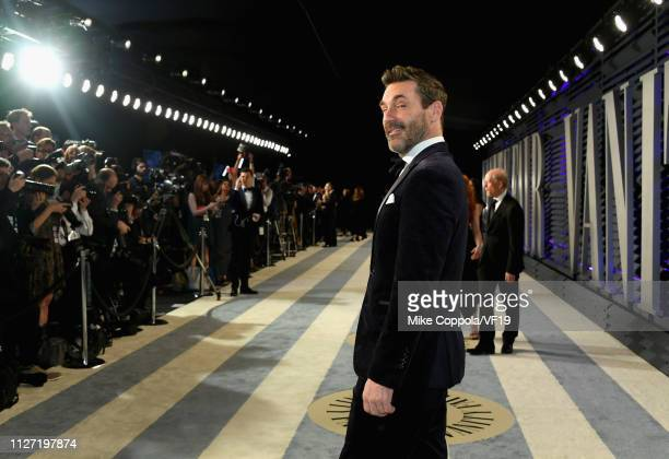 Jon Hamm attends the 2019 Vanity Fair Oscar Party hosted by Radhika Jones at Wallis Annenberg Center for the Performing Arts on February 24, 2019 in...