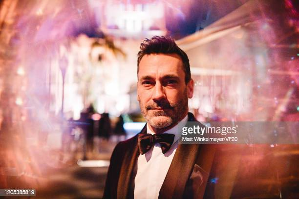 Jon Hamm attends the 2020 Vanity Fair Oscar Party Hosted By Radhika Jones at Wallis Annenberg Center for the Performing Arts on February 09, 2020 in...
