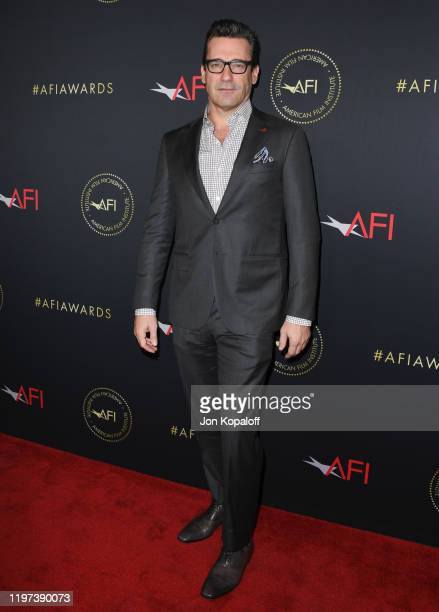 Jon Hamm attends the 20th Annual AFI Awards at Four Seasons Hotel Los Angeles at Beverly Hills on January 03, 2020 in Los Angeles, California.