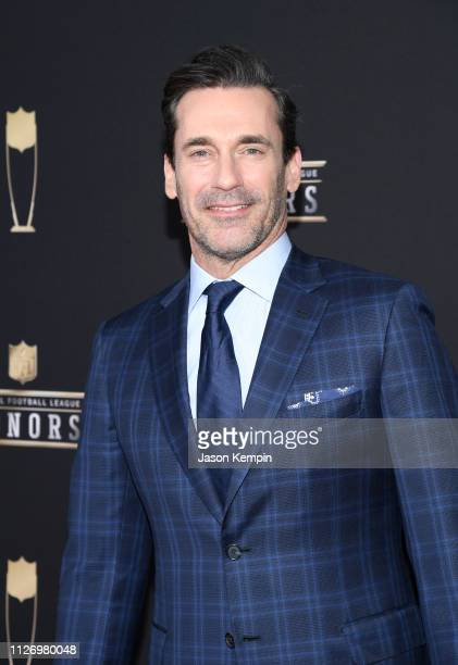 Jon Hamm attends the 8th Annual NFL Honors at The Fox Theatre on February 02 2019 in Atlanta Georgia