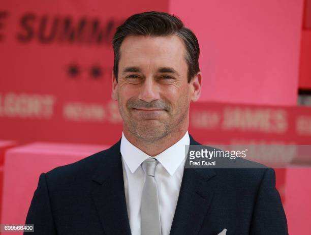 Jon Hamm attends the European premiere of 'Baby Driver' on June 21 2017 in London United Kingdom