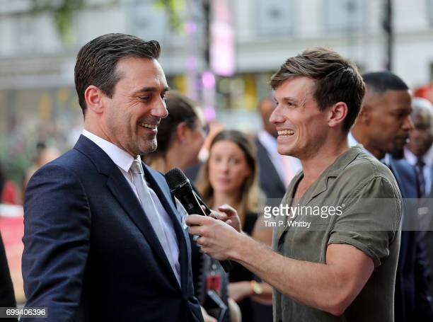 Jon Hamm attends the European Premiere of Sony Pictures 'Baby Driver' on June 21 2017 in London England