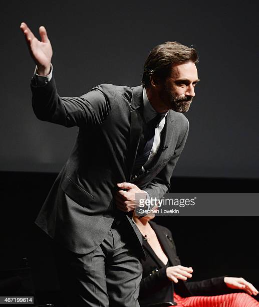 Jon Hamm attends the Mad Men special screening at The Film Society of Lincoln Center on March 21 2015 in New York City