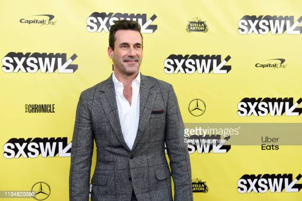 Jon Hamm attends the premiere for Good Omens The Nice and Accurate during SXSW at ZACH Theatre on March 09 2019 in Austin Texas