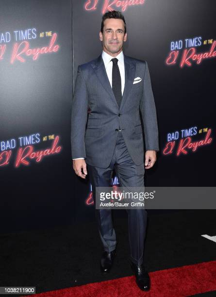 Jon Hamm attends the premiere of 20th Century FOX's 'Bad Times at the El Royale' at TCL Chinese Theatre on September 22, 2018 in Hollywood,...