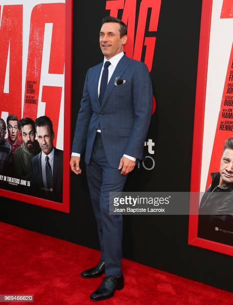 Jon Hamm attends the premiere of Warner Bros Pictures and New Line Cinema's 'Tag' on June 07 2018 in Los Angeles California